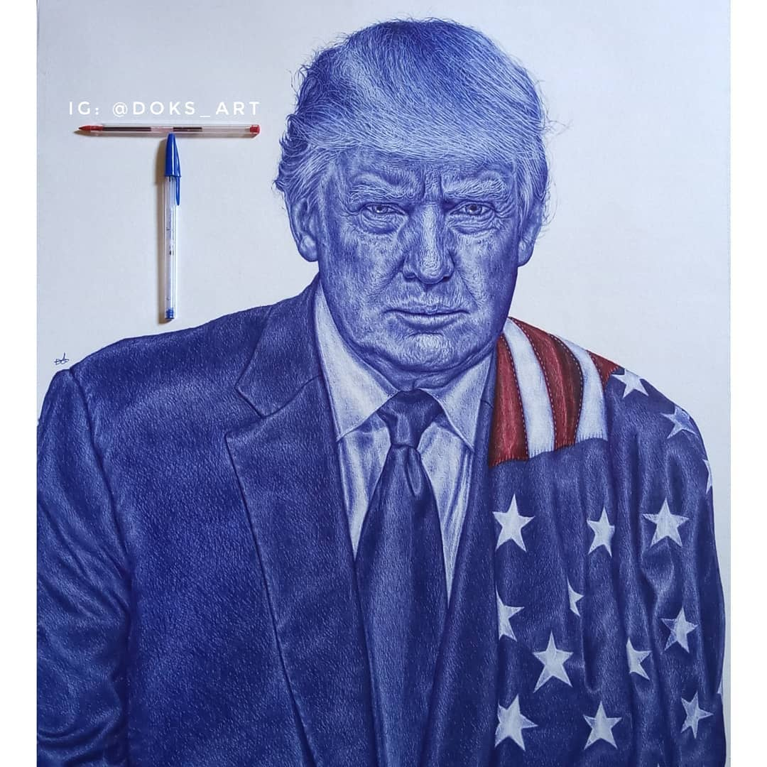 Donald Trump replied this Nigerian artist on Fantastic artwork